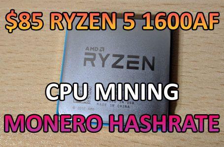 AMD Ryzen 5 1600AF – Monero Mining