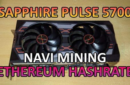 AMD Sapphire Pulse 5700 – Хешрейт и консумация на Етереум (ЕТХ)