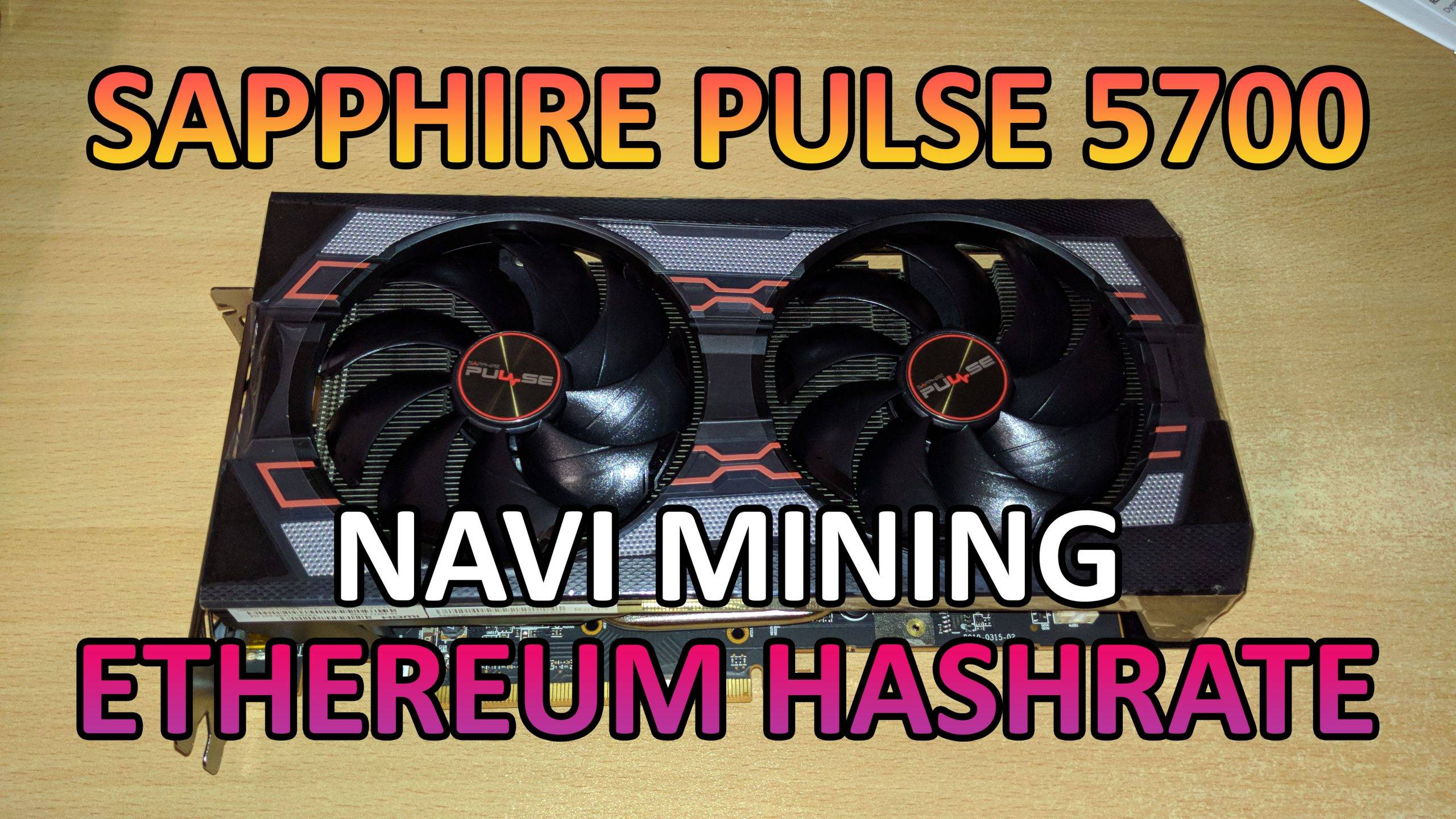 AMD Sapphire Pulse 5700 – Ethereum hashrate and power draw