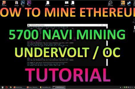 How to mine ETH with Navi 5700 – Undervolt and OC (Tutorial)