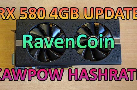 RX580 4GB – Kawpow Hashrate