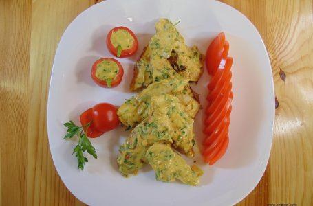 Пилешко филе с горчица и магданоз